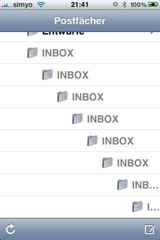 Iphone-INBOX-IMAP-Unterordner